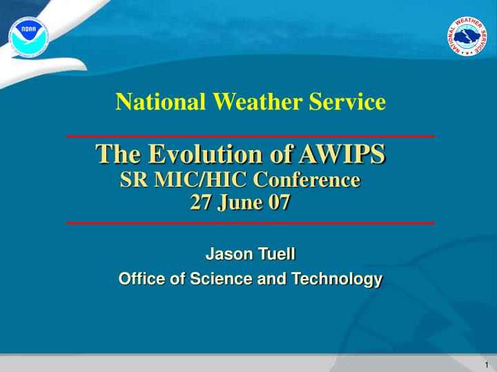 Jason tuell office of science and technology