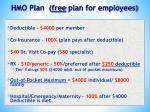 hmo plan free plan for employees