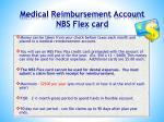 medical reimbursement account nbs flex card