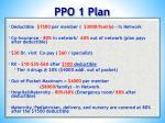 ppo 1 plan