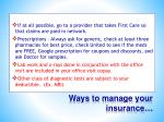 ways to manage your insurance