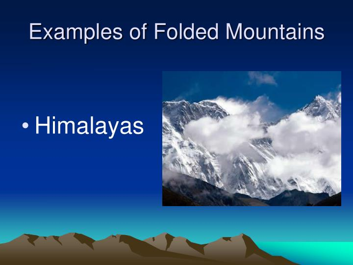 Examples of Folded Mountains