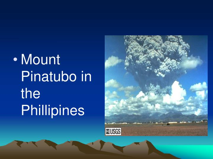 Mount Pinatubo in the Phillipines
