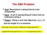 the sbh problem