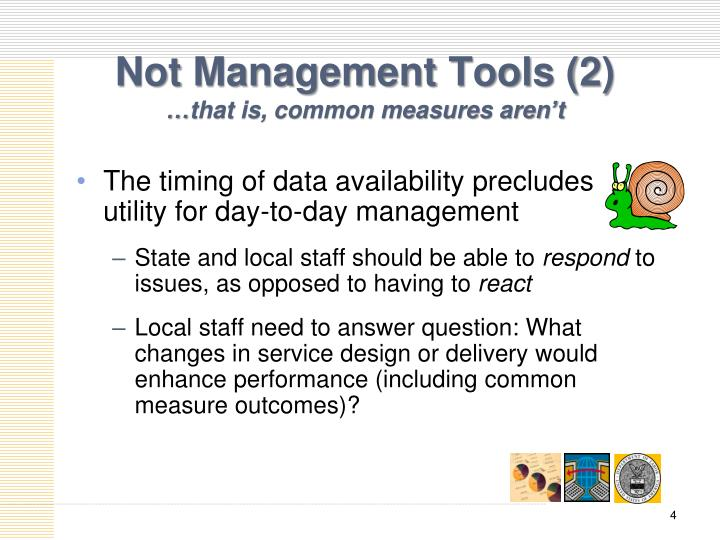 The timing of data availability precludes utility for day-to-day management