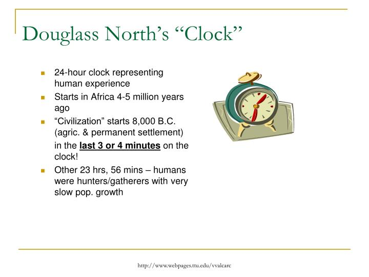 "Douglass North's ""Clock"""