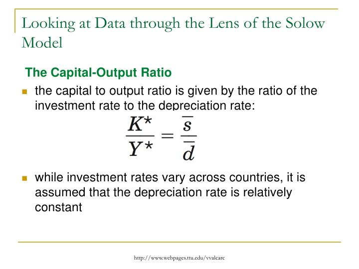 Looking at Data through the Lens of the Solow Model
