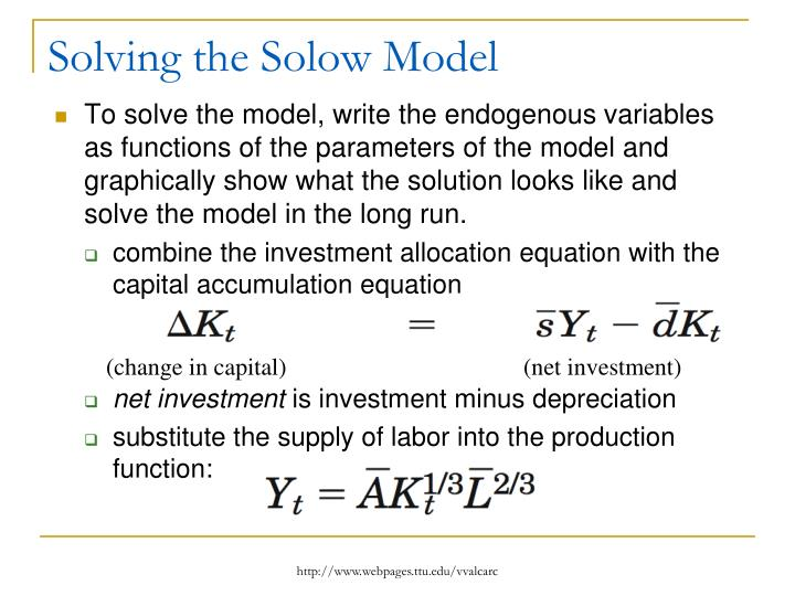 Solving the Solow Model