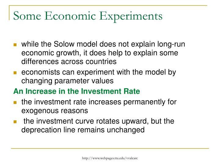 Some Economic Experiments