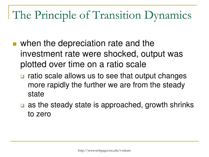 The Principle of Transition Dynamics