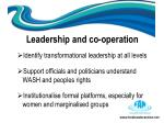 leadership and co operation