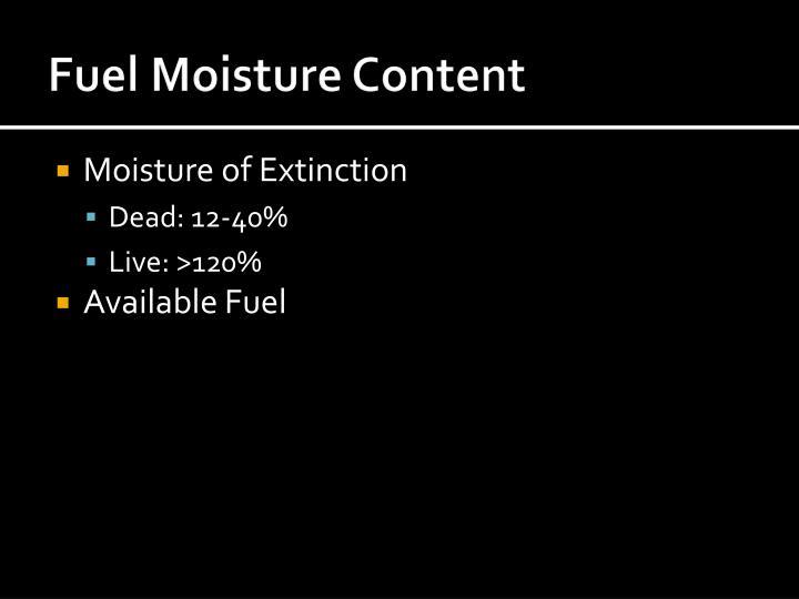Fuel Moisture Content