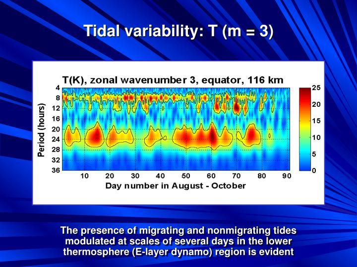 Tidal variability: T (m = 3)