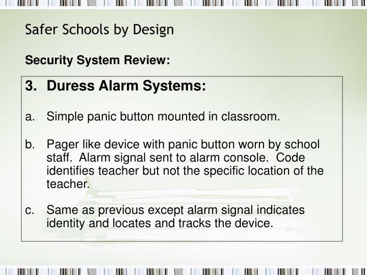 Safer Schools by Design