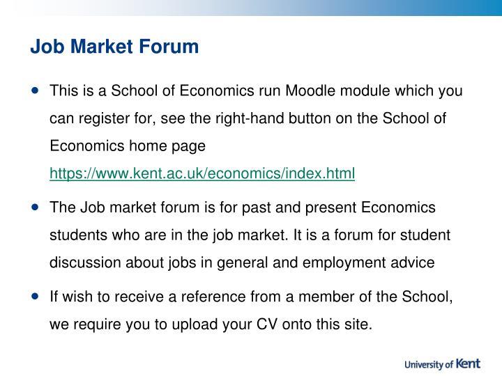 Job Market Forum