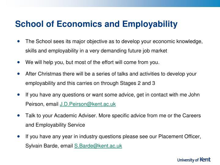 School of Economics and Employability