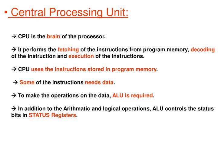 Central Processing Unit: