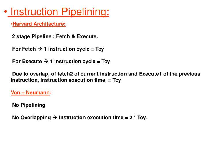 Instruction Pipelining: