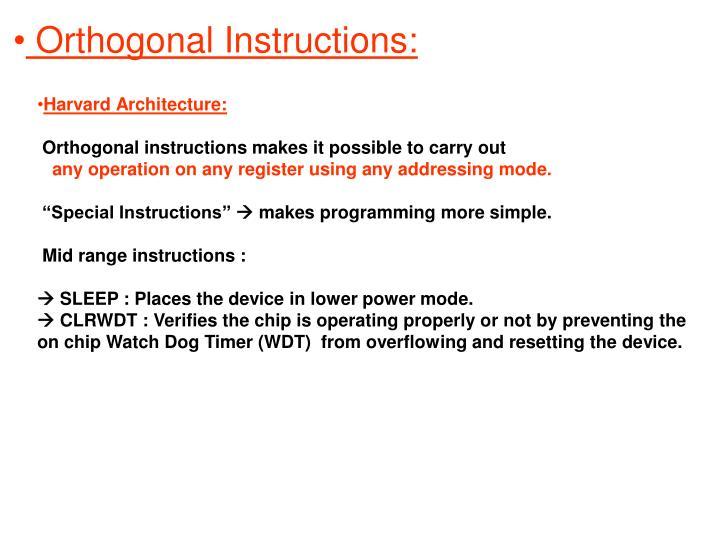 Orthogonal Instructions: