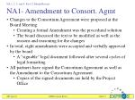 na1 amendment to consort agmt