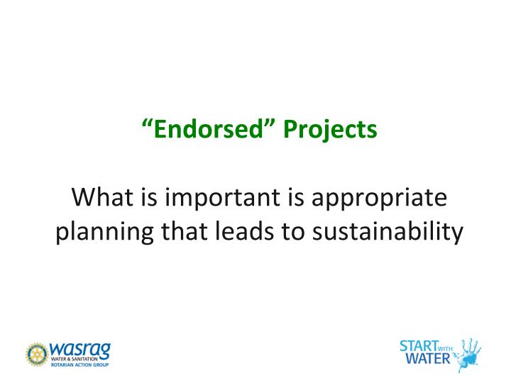"""Endorsed"" Projects"