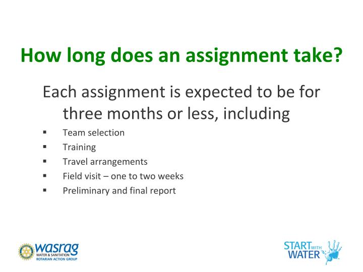 How long does an assignment take?