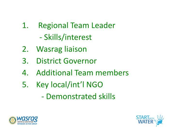 Regional Team Leader