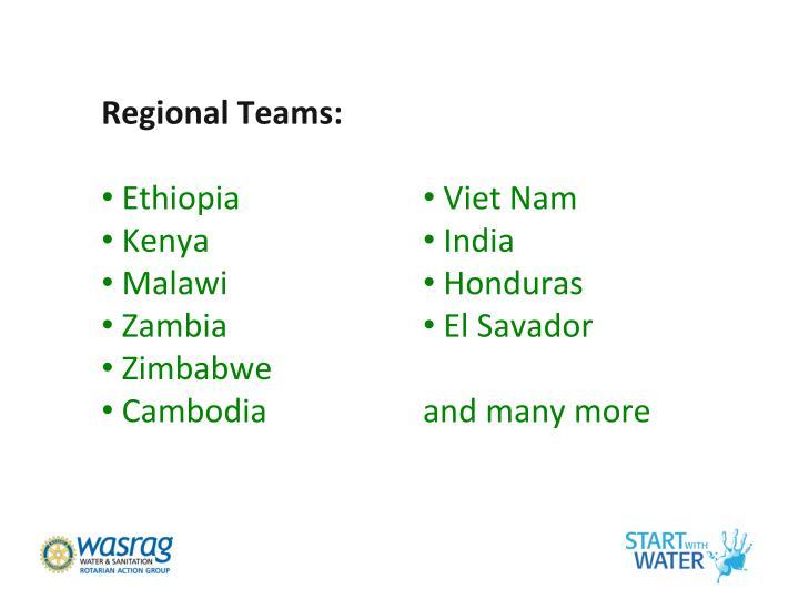 Regional Teams: