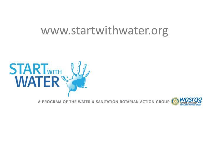 www.startwithwater.org