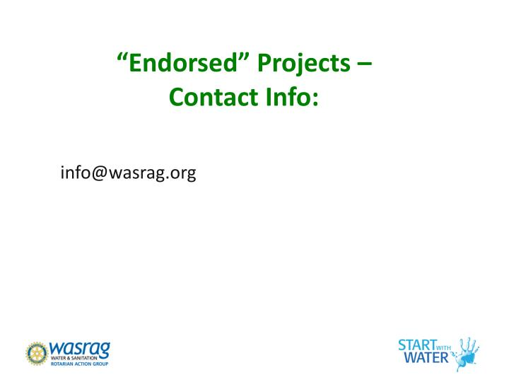 """Endorsed"" Projects –"