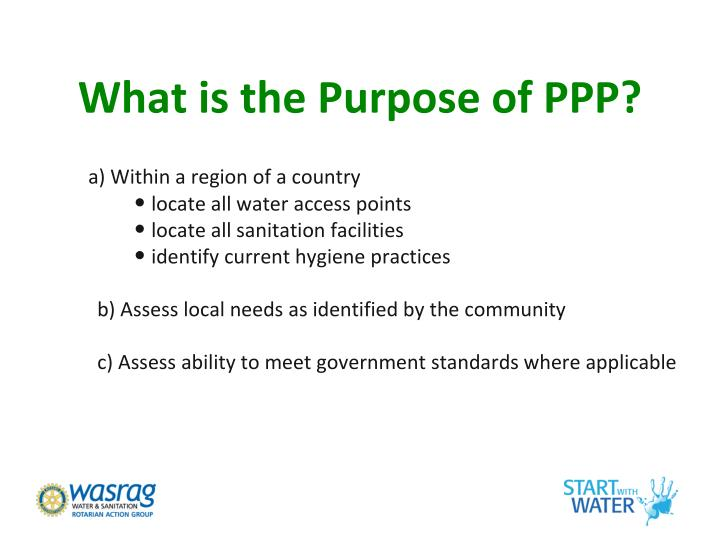 What is the Purpose of PPP?