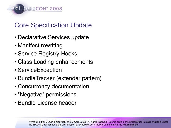 Core Specification