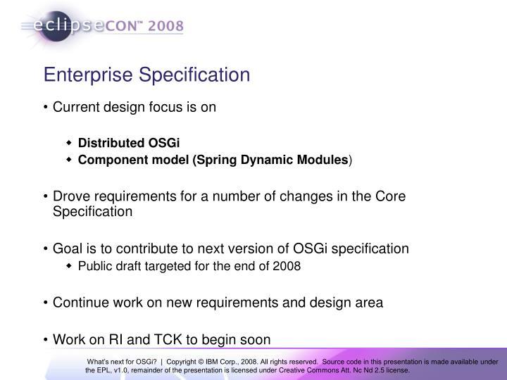 Enterprise Specification