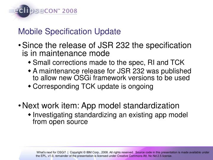 Mobile Specification