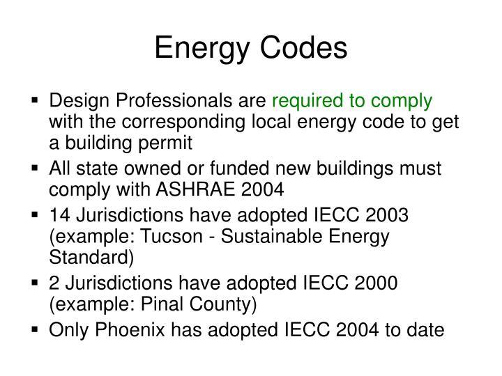 Energy Codes