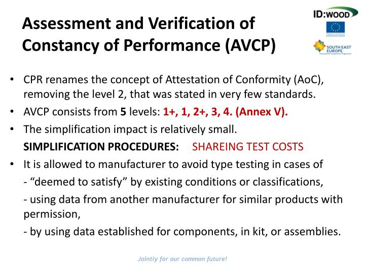 Assessment and Verification of Constancy of Performance (AVCP)