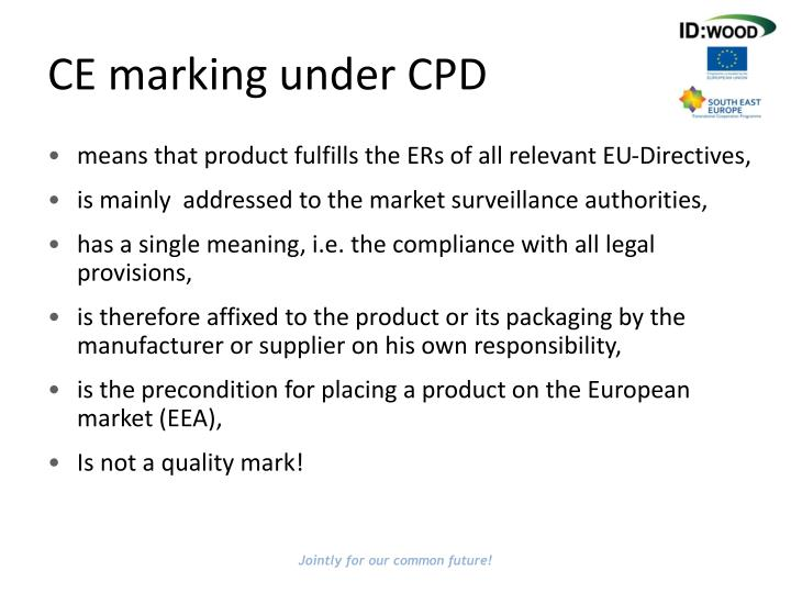 CE marking under CPD