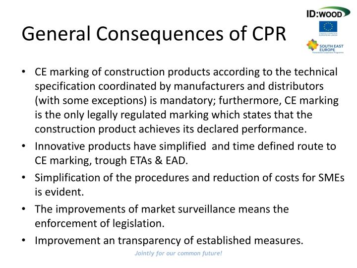 General Consequences of CPR