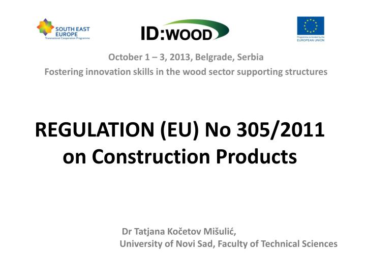 regulation eu no 305 2011 on construction products