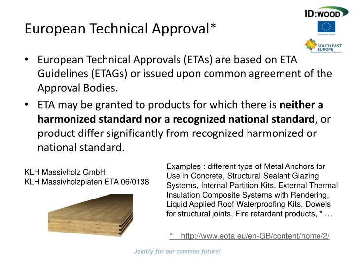 European Technical Approval*