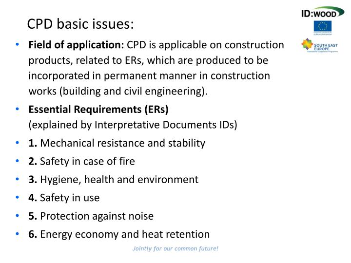 CPD basic issues: