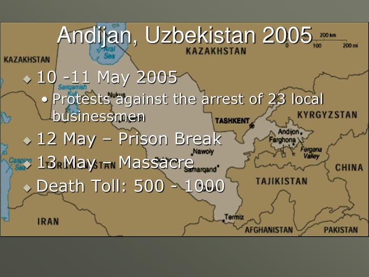 Andijan, Uzbekistan 2005