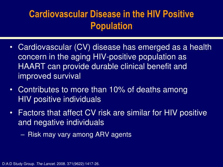 Cardiovascular Disease in the HIV Positive Population