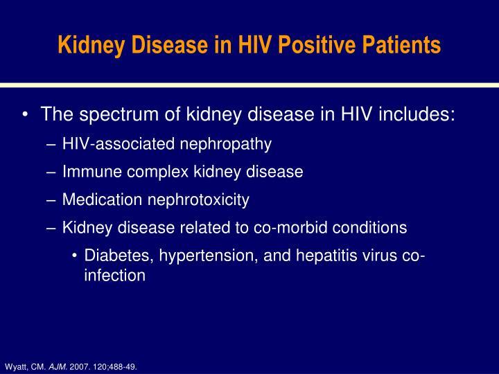 Kidney Disease in HIV Positive Patients