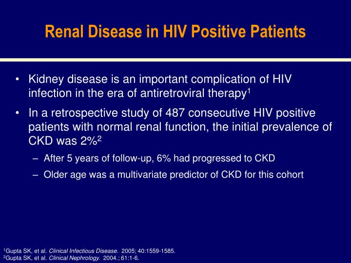 Renal Disease in HIV Positive Patients