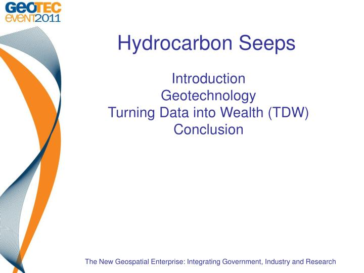 introduction geotechnology turning data into wealth tdw conclusion