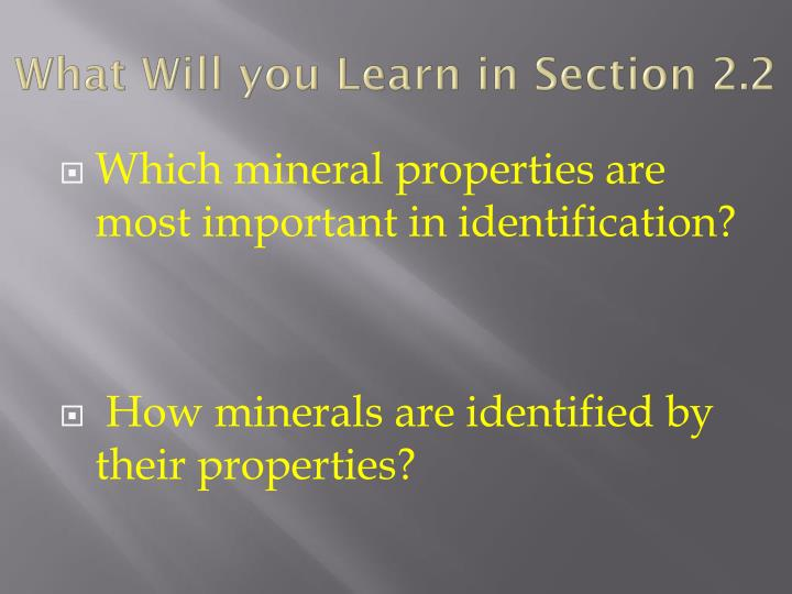 What Will you Learn in Section 2.2
