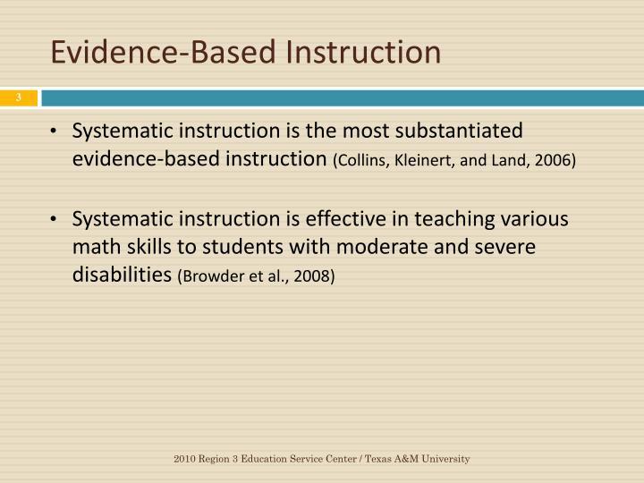 Evidence-Based Instruction