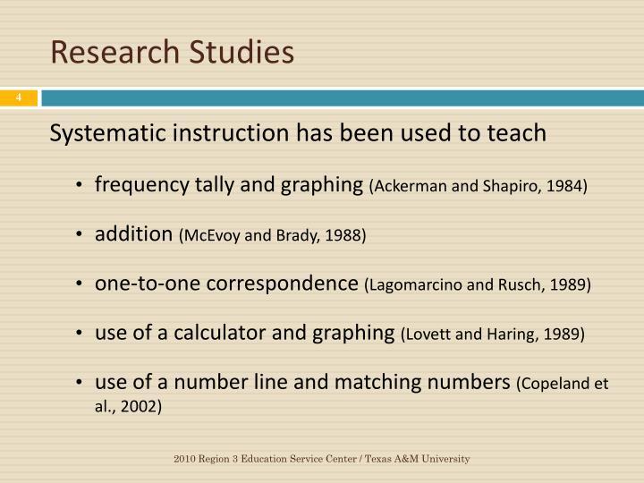 Research Studies