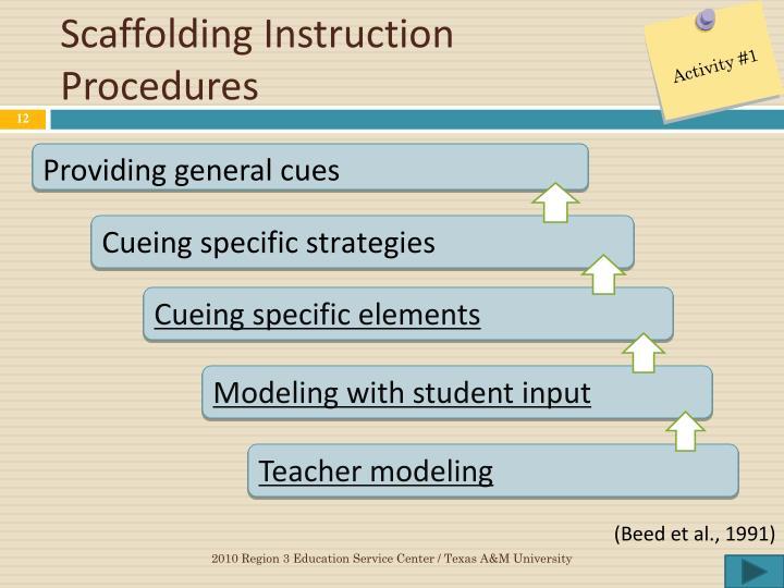 Scaffolding Instruction Procedures